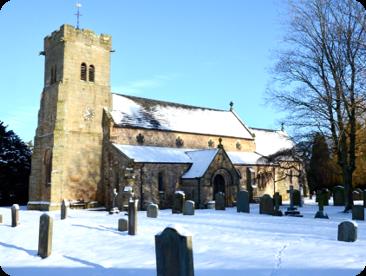 St Radegund's in snow